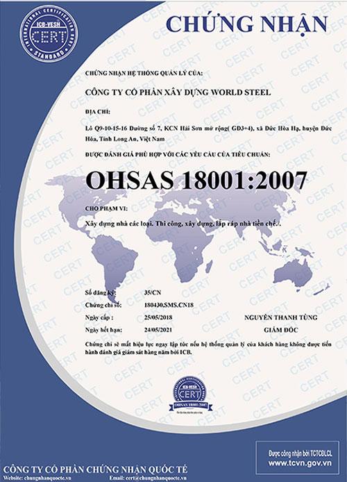 Chứng nhận OHSAS